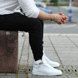 Other - New Leandro Lopes White High Top Sneakers